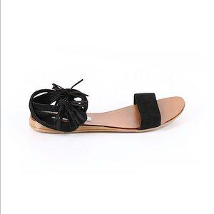 Steve Madden Suede Lace Up Sandal Ankle Tie Shoe
